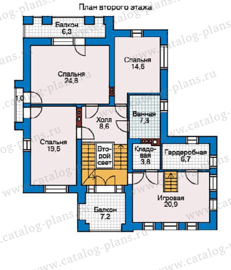 План 2-этажа проекта 31-91