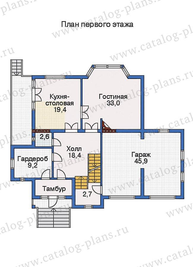 План 2-этажа проекта 31-75