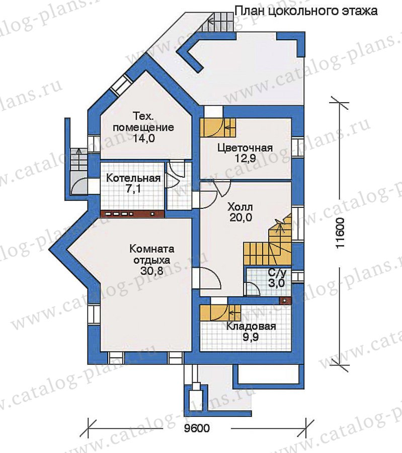 План 1-этажа проекта 32-57