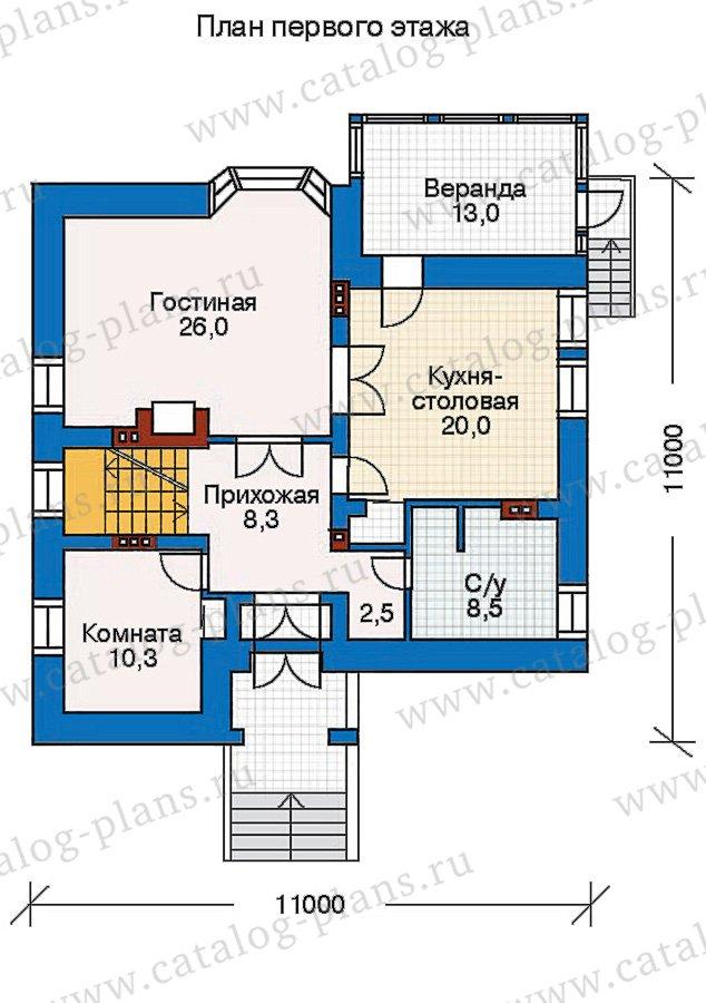 План 2-этажа проекта 30-45