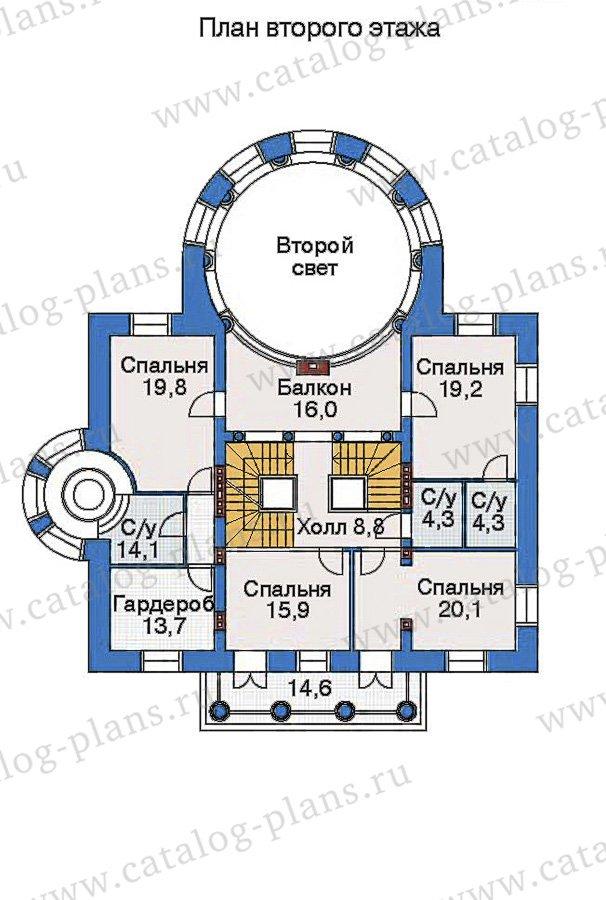 План 3-этажа проекта 32-76
