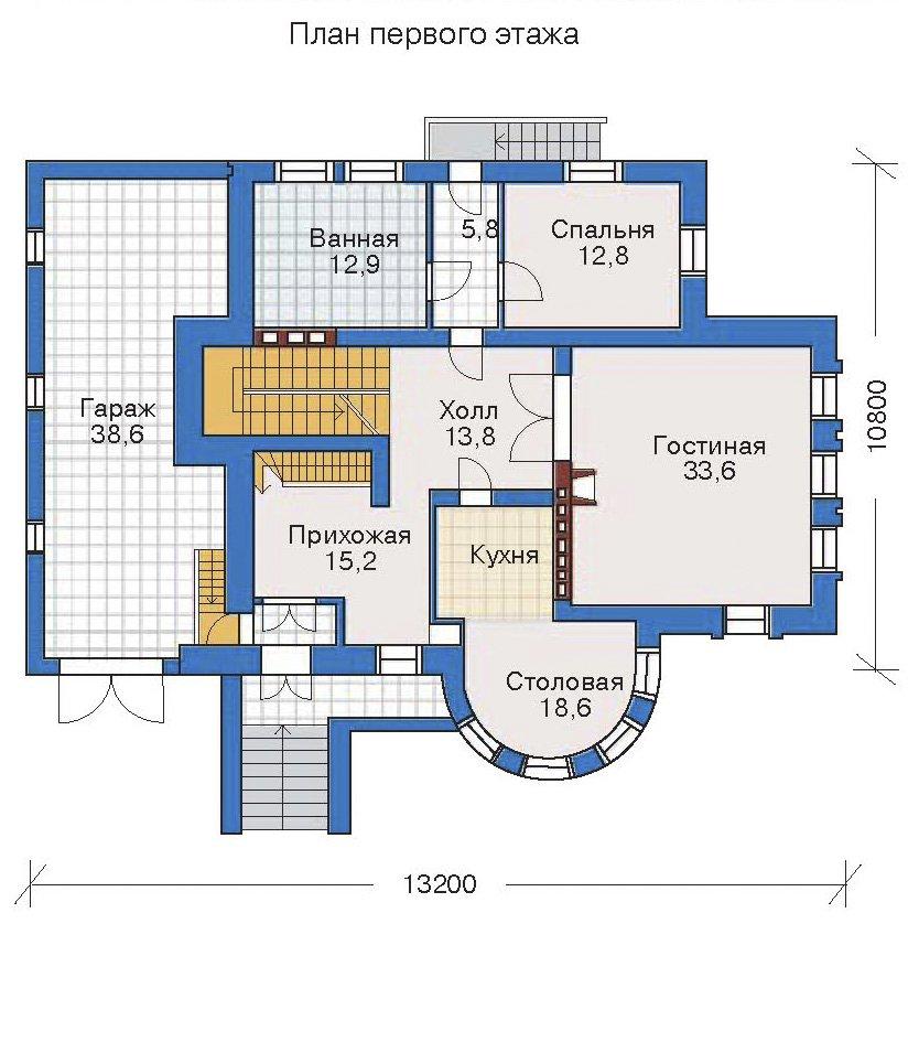 План 2-этажа проекта 32-27