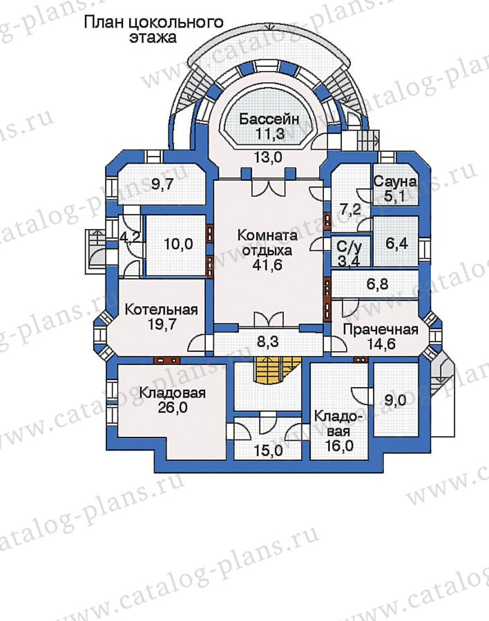 План 1-этажа проекта 32-87