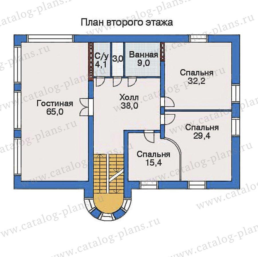 План 3-этажа проекта 32-74
