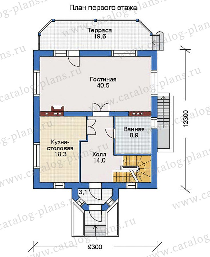 План 2-этажа проекта 34-79