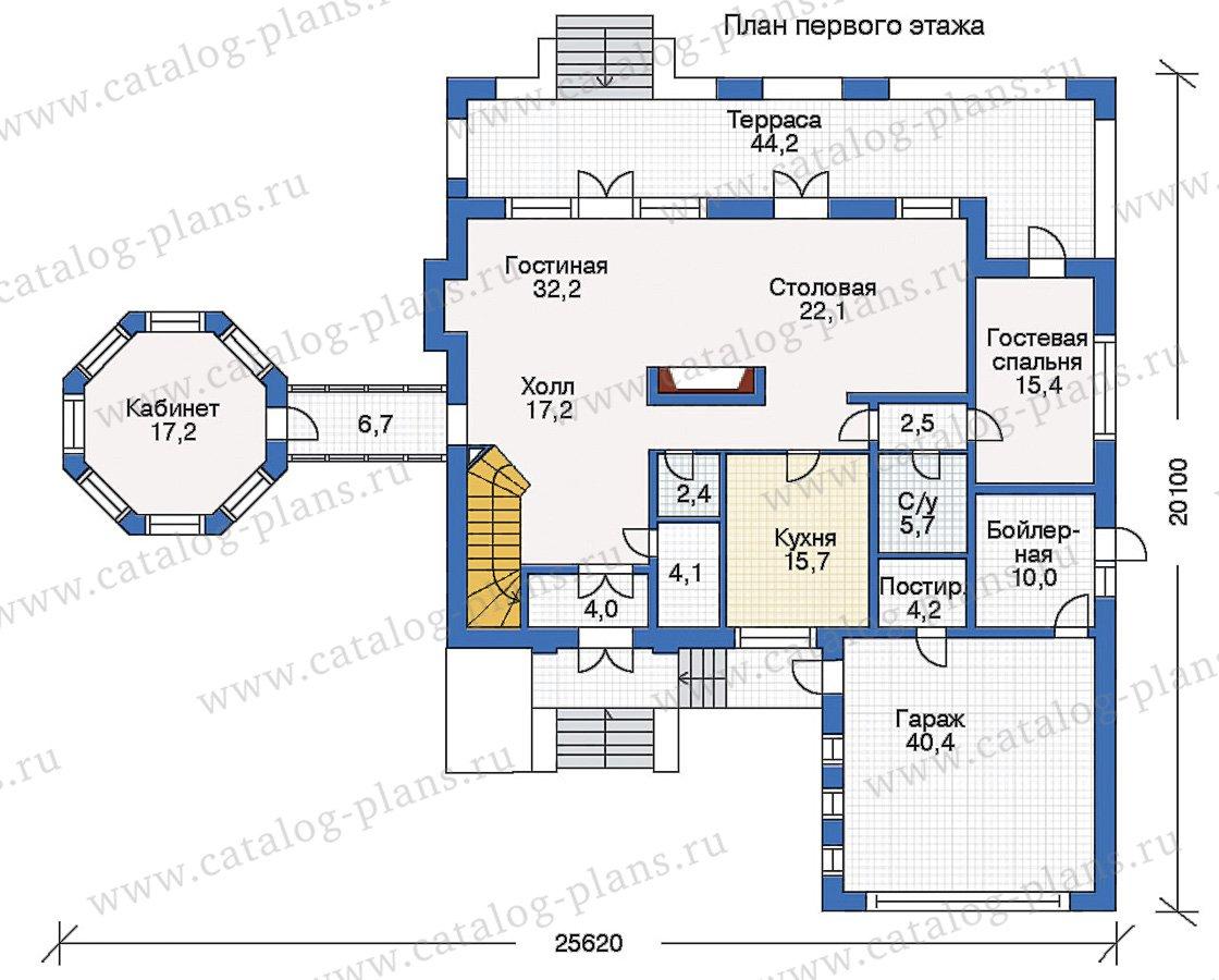 План 1-этажа проекта 35-04