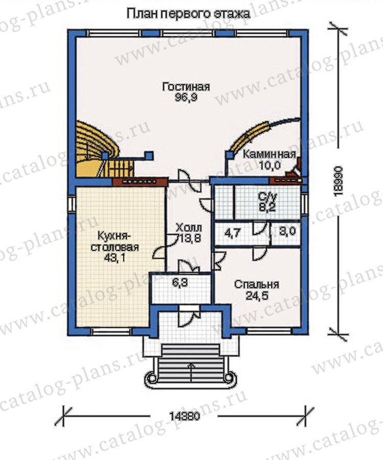 План 2-этажа проекта 32-11