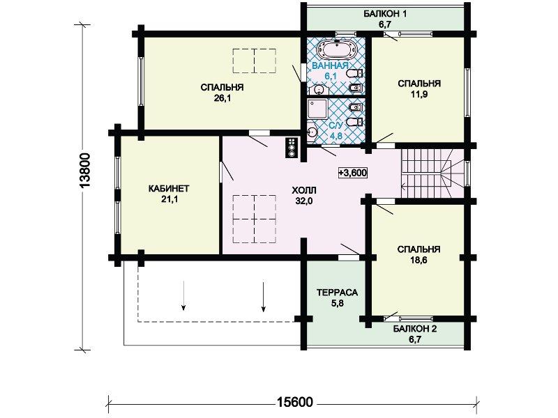 План 3-этажа проекта 13-29
