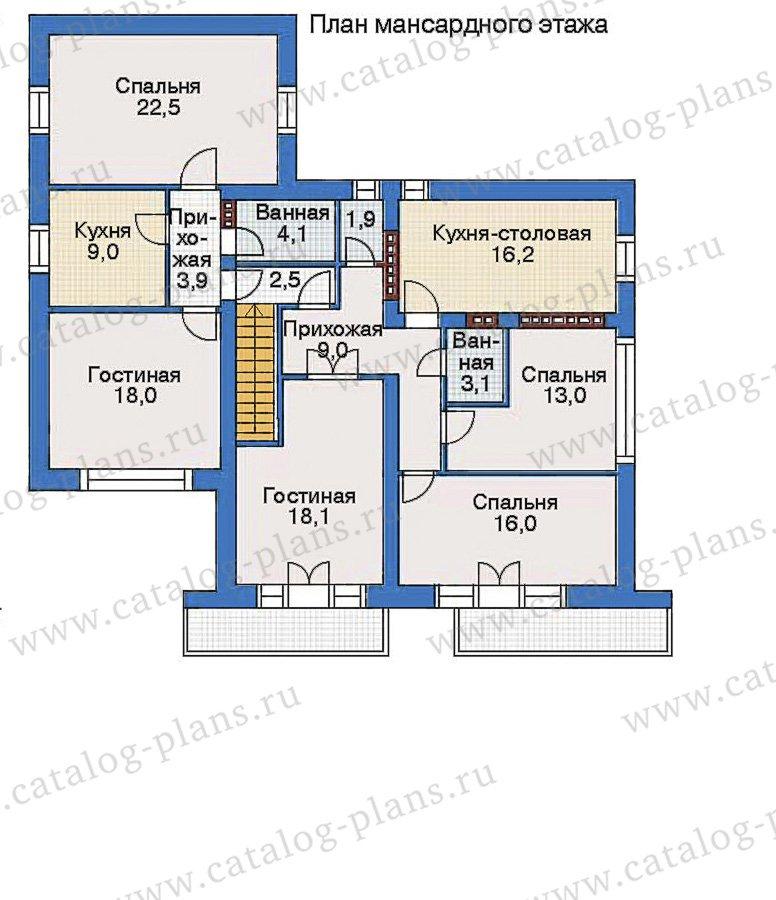 План 3-этажа проекта 34-90