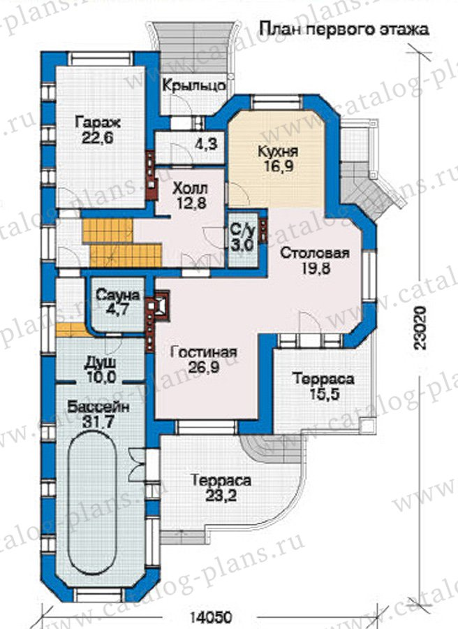 План 2-этажа проекта 31-41