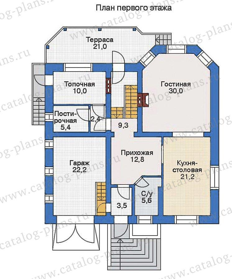 План 1-этажа проекта 32-86