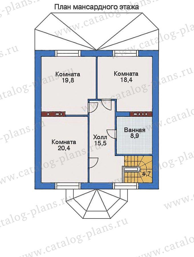 План 3-этажа проекта 34-79