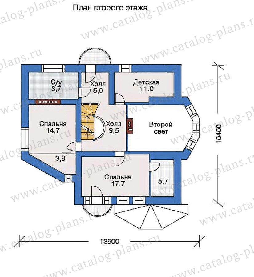 План 3-этажа проекта 32-72