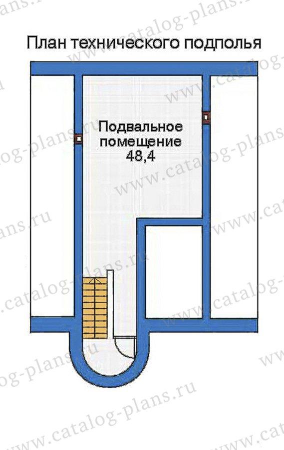 План 1-этажа проекта 32-74