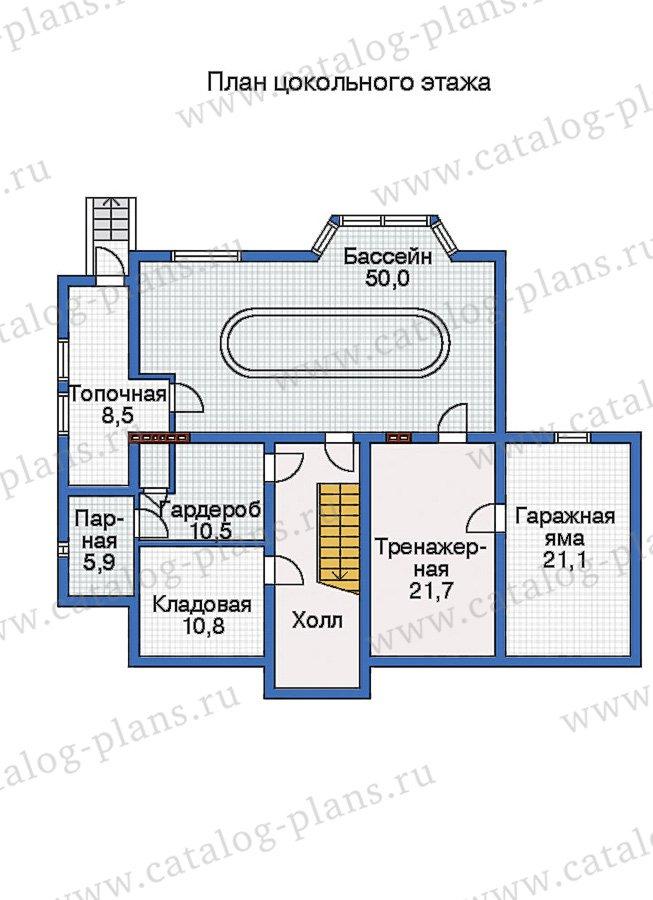 План 1-этажа проекта 31-75