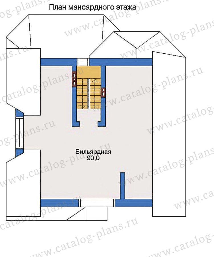 План 3-этажа проекта 32-86