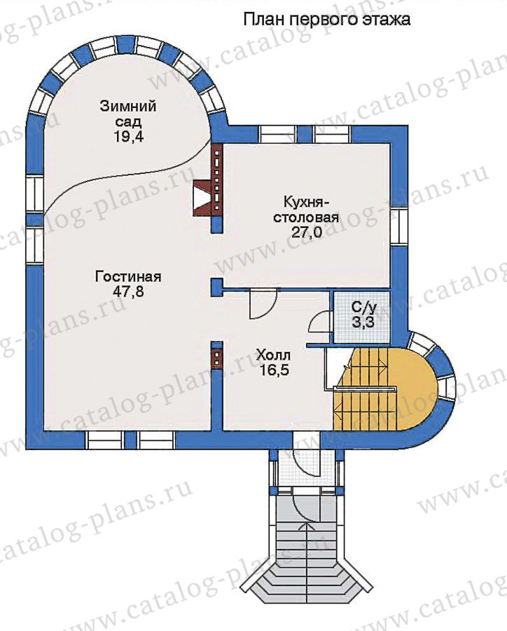 План 2-этажа проекта 32-85