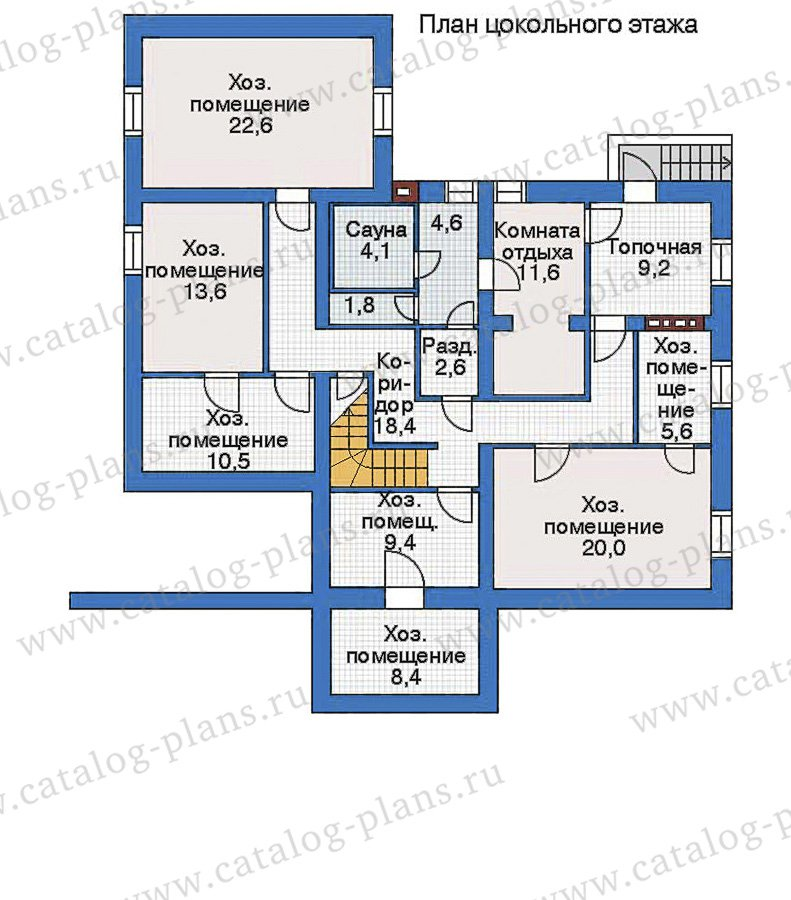 План 1-этажа проекта 34-90