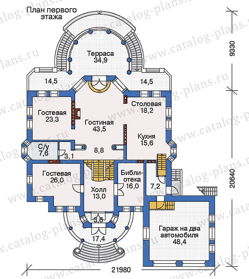 План 2-этажа проекта 32-87