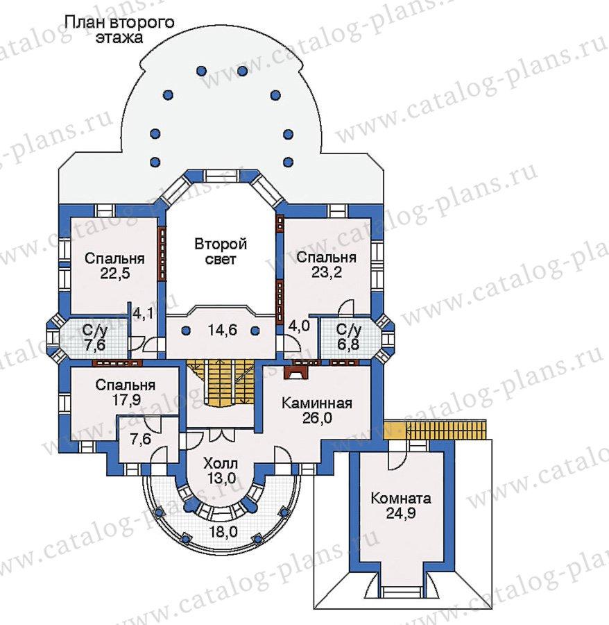 План 3-этажа проекта 32-87