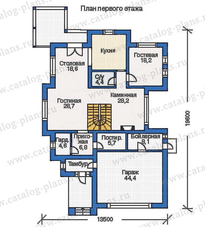 План 1-этажа проекта 35-08