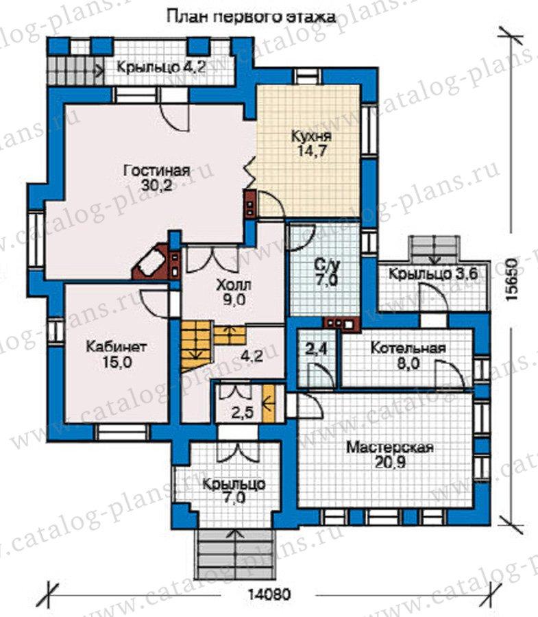 План 1-этажа проекта 31-91