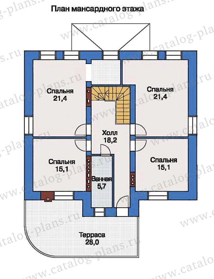 План 3-этажа проекта 33-54