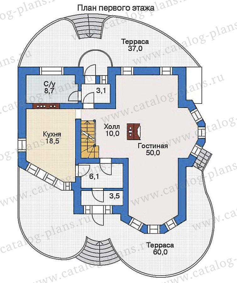 План 2-этажа проекта 32-72