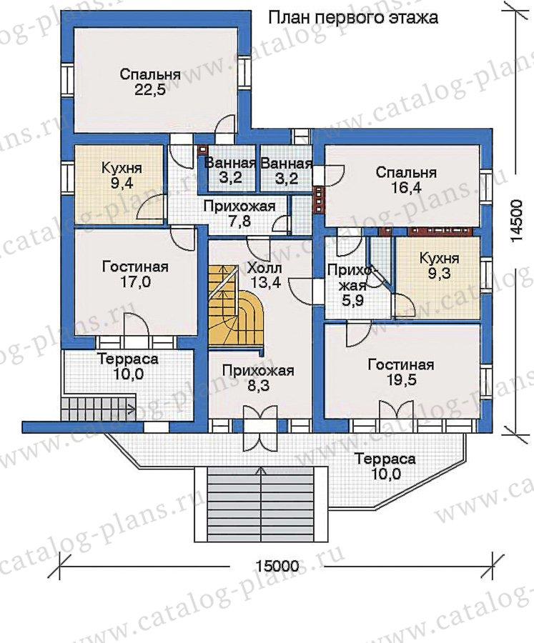 План 2-этажа проекта 34-90