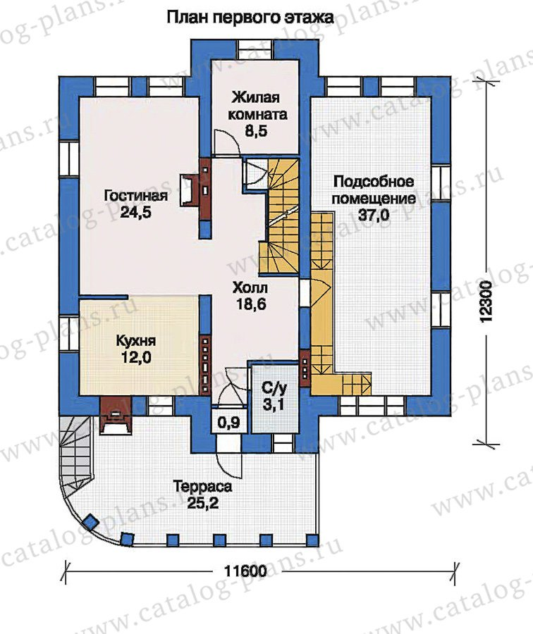 План 2-этажа проекта 33-54