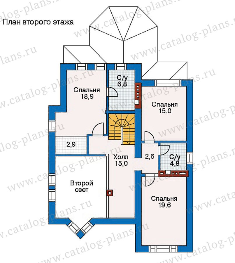 План 3-этажа проекта 30-65
