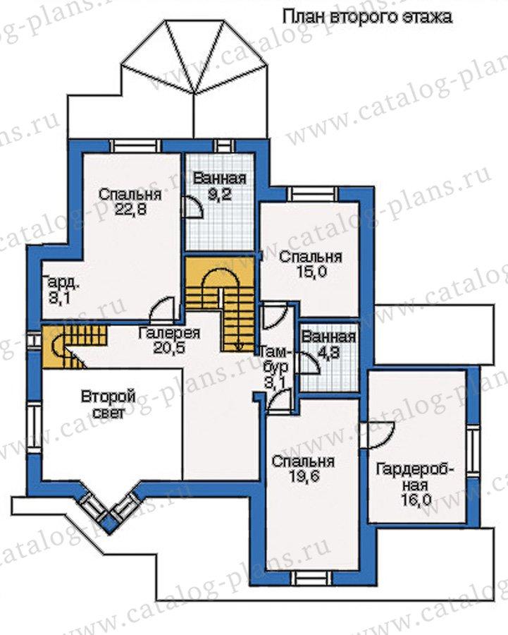 План 2-этажа проекта 35-11