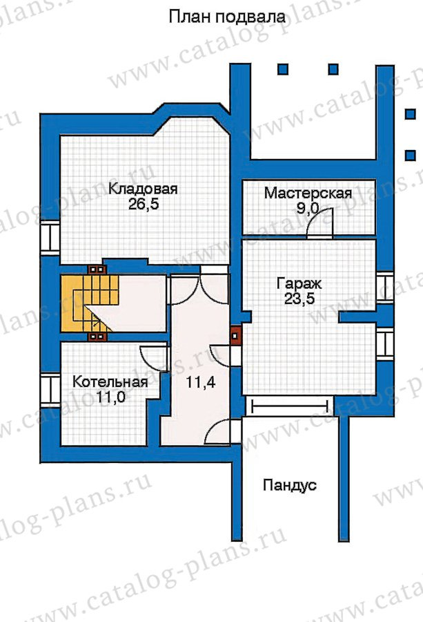 План 1-этажа проекта 30-45