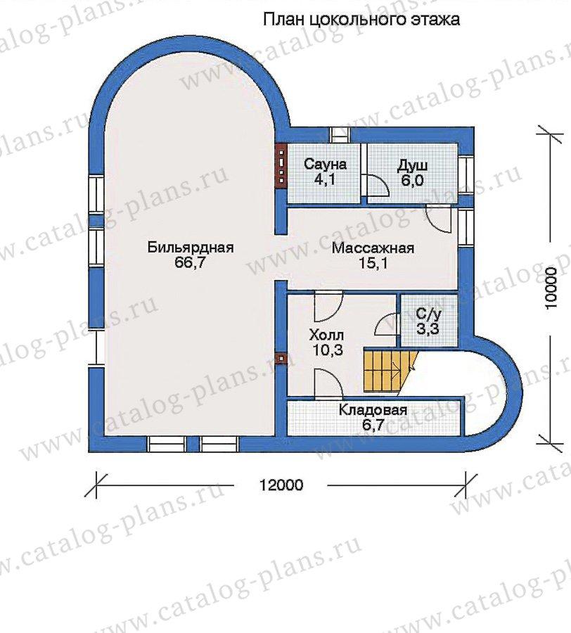 План 1-этажа проекта 32-85