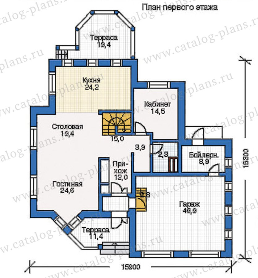 План 1-этажа проекта 35-11