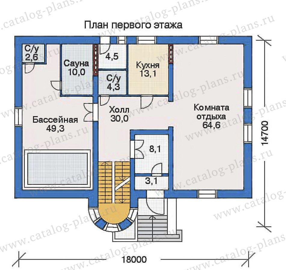 План 2-этажа проекта 32-74
