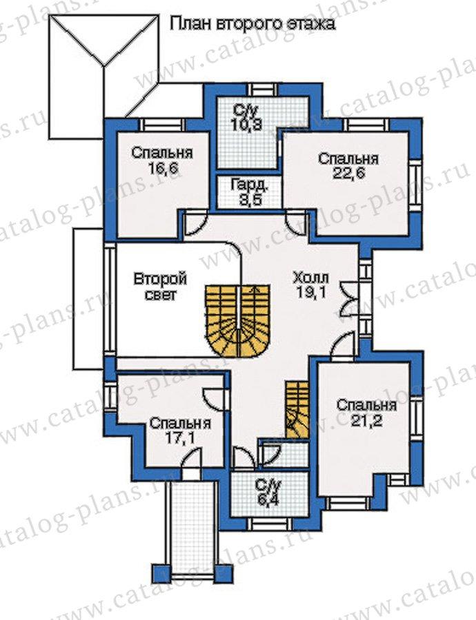 План 2-этажа проекта 35-08