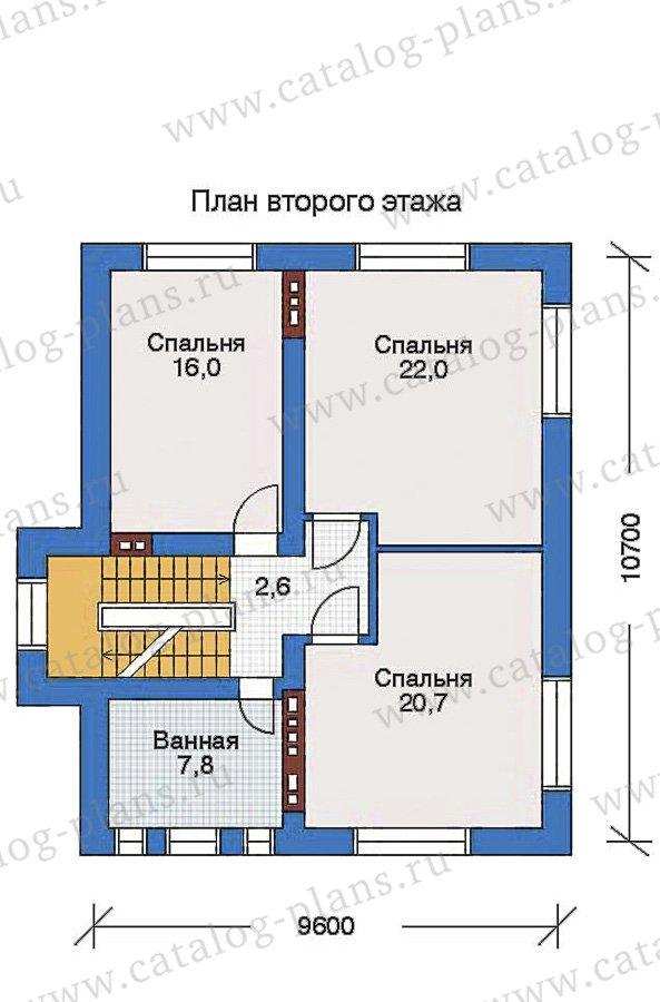 План 3-этажа проекта 32-41