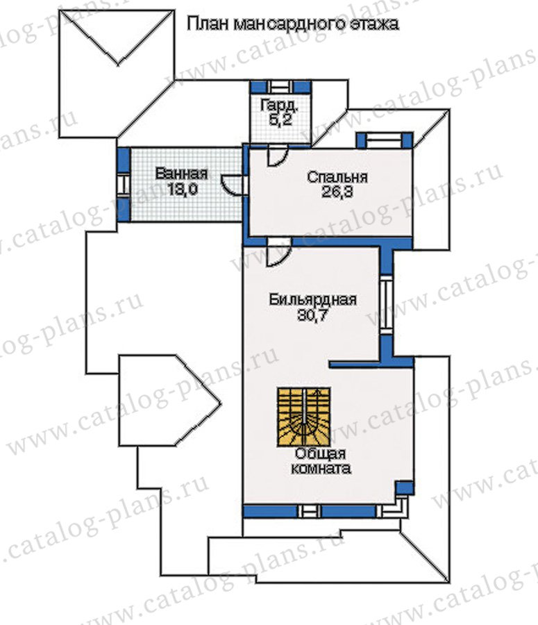 План 3-этажа проекта 35-08
