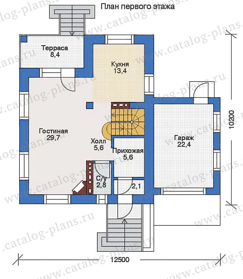 План 2-этажа проекта 33-83