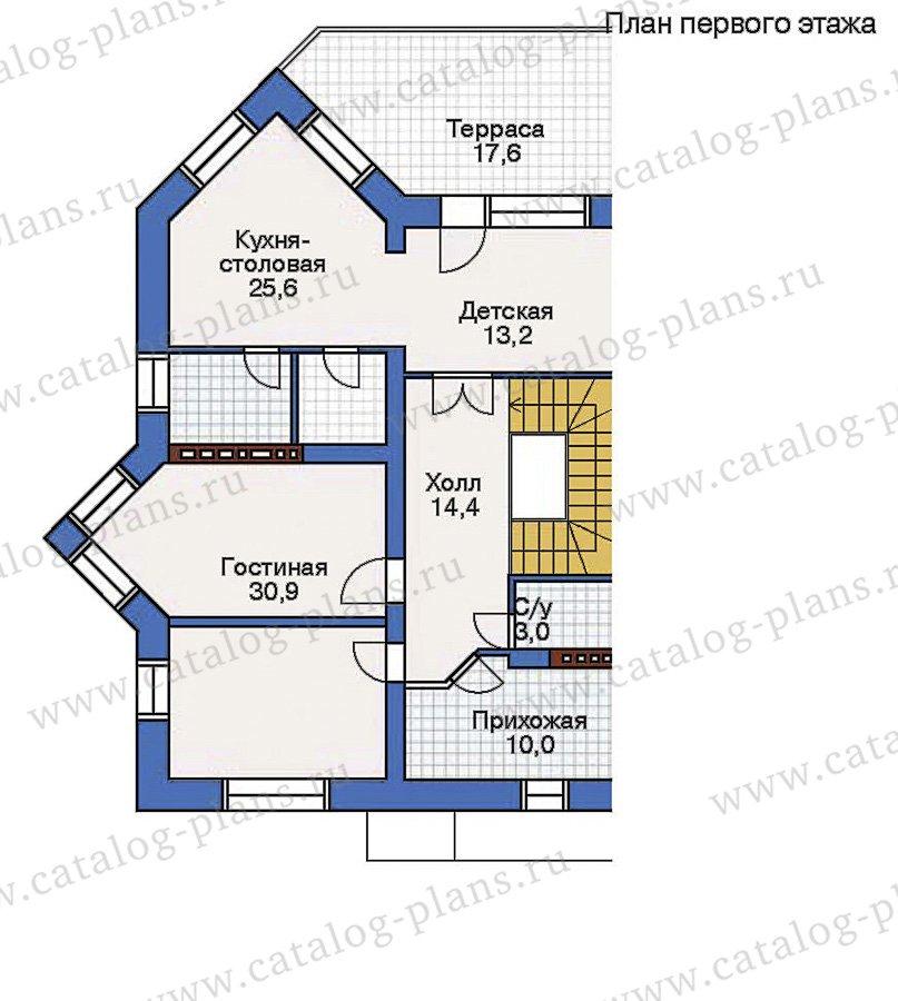 План 2-этажа проекта 32-57