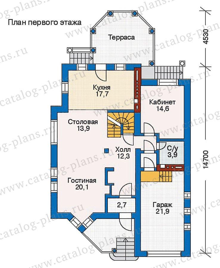 План 2-этажа проекта 30-65