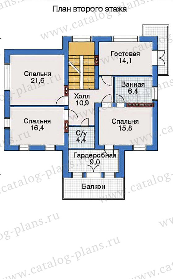 План 3-этажа проекта 32-48