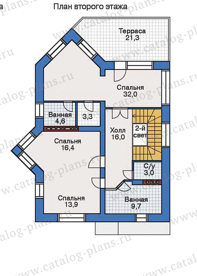 План 3-этажа проекта 32-57