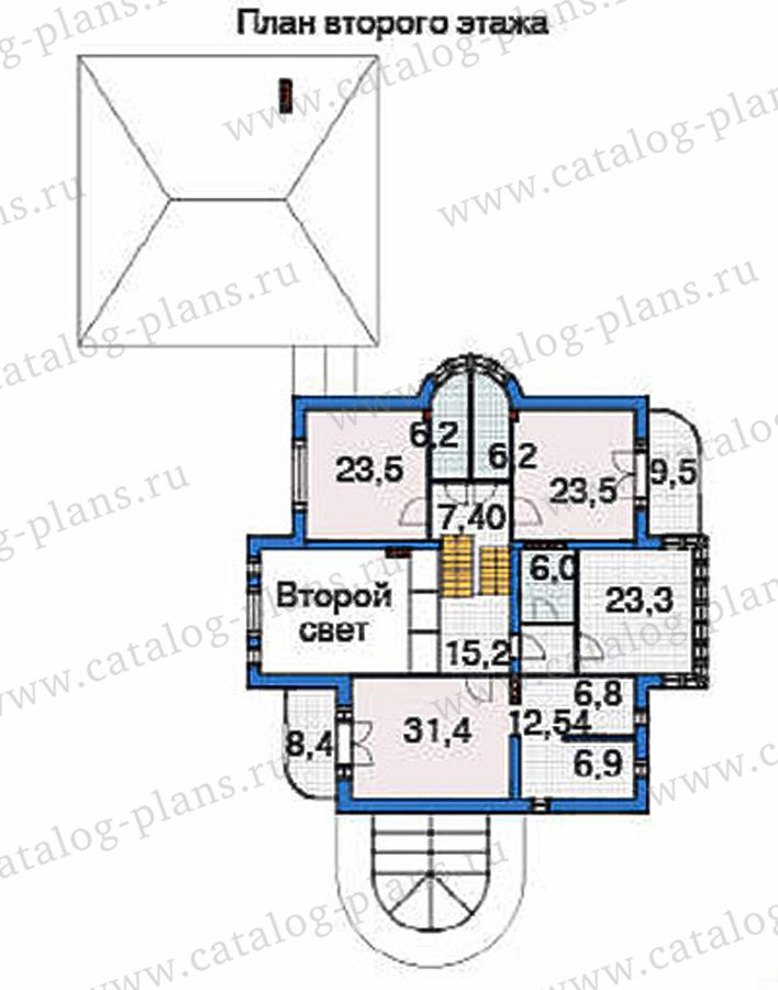 План 3-этажа проекта 36-37