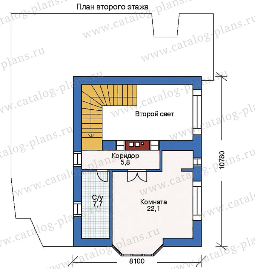 План 3-этажа проекта 35-29