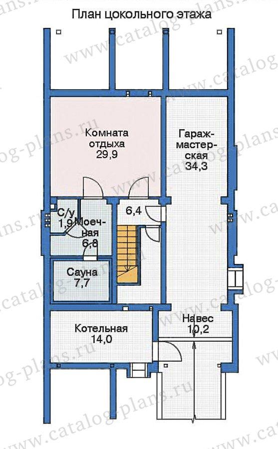 План 1-этажа проекта 35-90