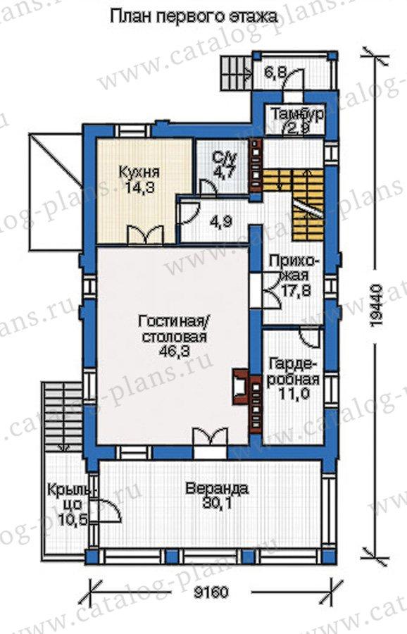 План 2-этажа проекта 37-61