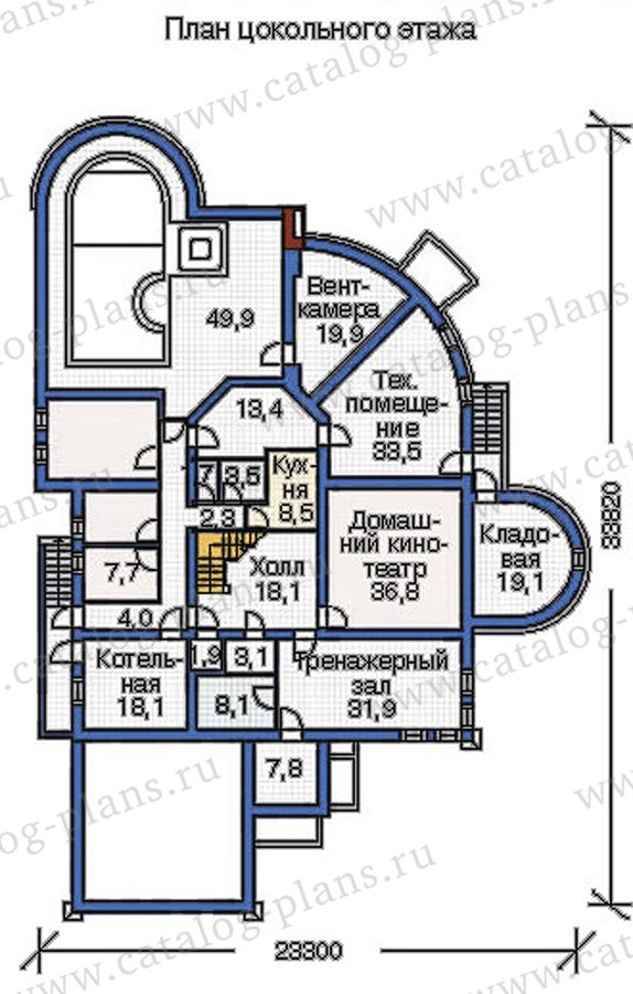 План 1-этажа проекта 36-21