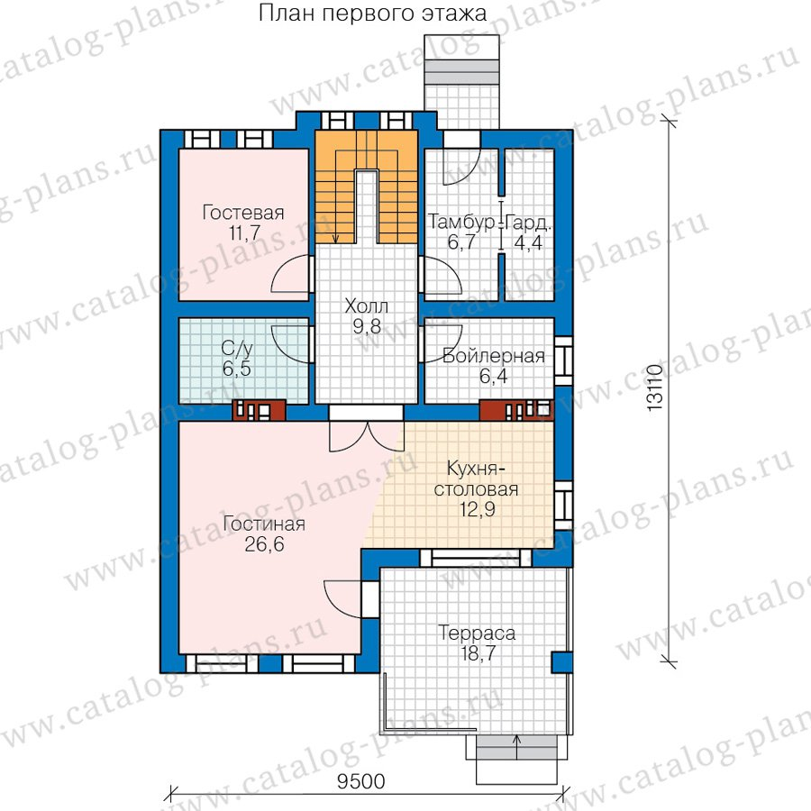 План 1-этажа проекта 57-84A